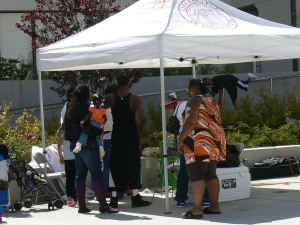 Booth at the CCSF Juneteenth 2009